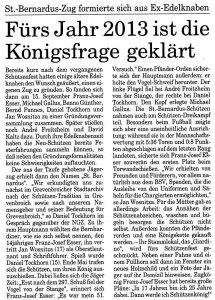 Der Original-Artikel aus der NGZ zum Schützenfest 1996. Bitte klicken zum vergrößern.