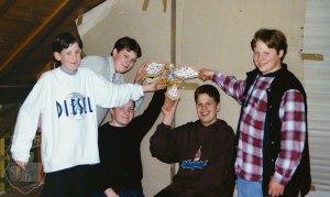 Die Pfänderschützen bei unserem ersten Vogelschuss 1996.