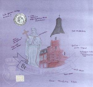 Scan der Werkszeichnung für die Bernardus-Standarte.