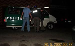 Shuttle-Service zum Spanierfest nach dem Vogelschuss 2002