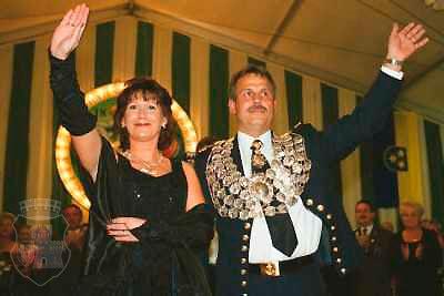 Strahlendes Königspaar: Norbdert I. und Karin Tockhorn-
