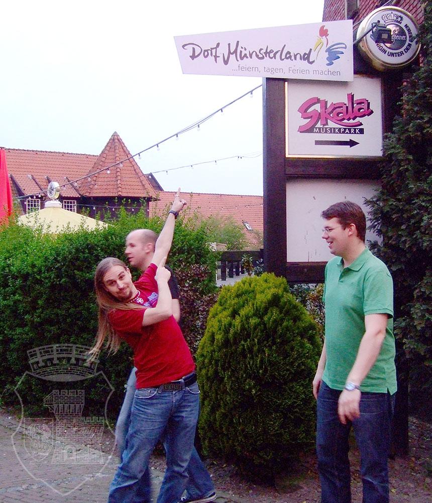 Ankunft im Dorf Münsterland.