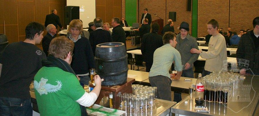 Unsere Theke auf der BSV-Jahreshauptversammlung 2009 in der Alten Feuerwache.