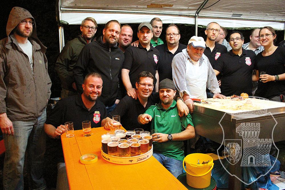 Der Bernardus-Grillteam beim Schützenbiwak 2017.