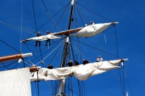 Prepping the Sails - Festival of Sail