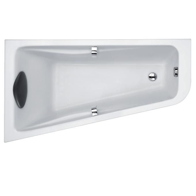 baignoire d angle odeon up 160 x 90 acrylique version gauche blanc jacob delafon ref e6065 00