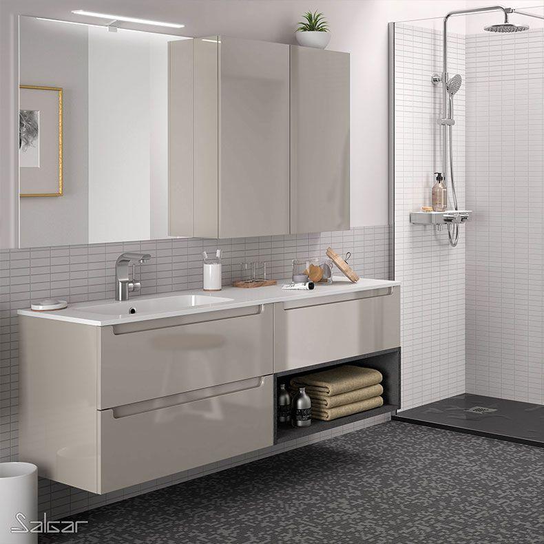 ensemble salgar monterrey 160 cm 3 tiroirs 1 niche ouverte 7 coloris au choix meuble bas vasque