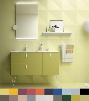 ensemble uniiq 120cm couleur 2 tiroirs 1 porte a droite meuble plan vasque solid surface coloris poignees au choix