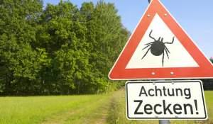 Zecken Warnschild
