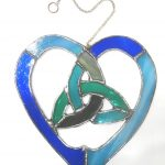 hearts, celtic knots, stained glass