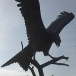 red kite statue, closeup, Llanwrtyd Wells