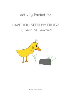 Have You Seen My Frog Activity Packet cover