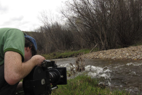 Film Retreat Cricket Berny Hi filming by the river Arri 16mm