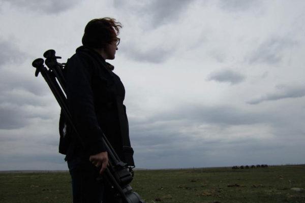 Film Retreat Cricket Chrystene Ells on the prairies with film gear