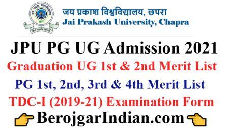 JPU Graduation UG PG 1st 2nd 3rd 4th Merit List 2021 (Released)