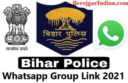 Latest Bihar Police Constable Exam Bharti Telegram WhatsApp Group link 2021