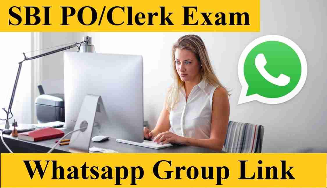 SBI PO Clerk Bank Exam Preparation Whatsapp Group Link 2021 - Join