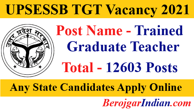 UPSESSB UP TGT Recruitment 2021 Online Form Vacancy Details