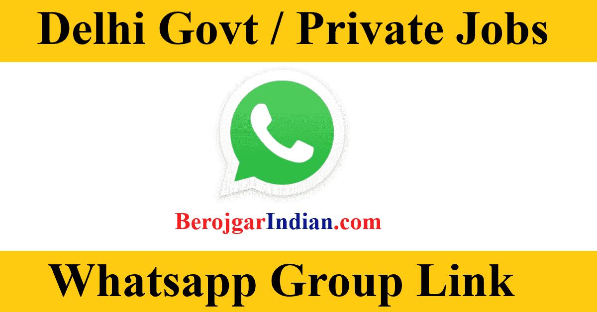 Delhi Govt & Private Female Jobs Exam Bharti Whatsapp Telegram Group Link