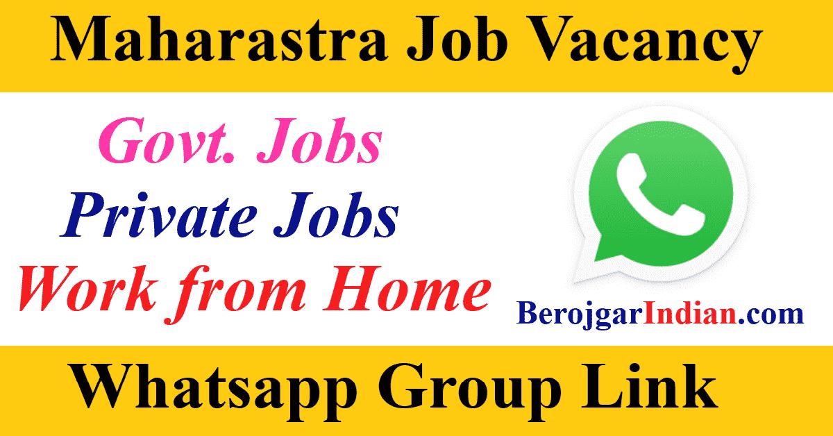 Pune Mumbai Maharashtra Job Alert Govt Private Jobs Whatsapp Telegram Group Link