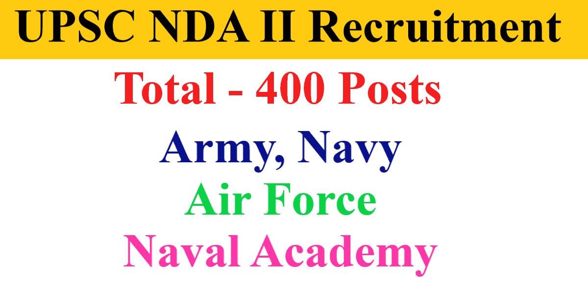 UPSC NDA II Recruitment 2021 Online Form