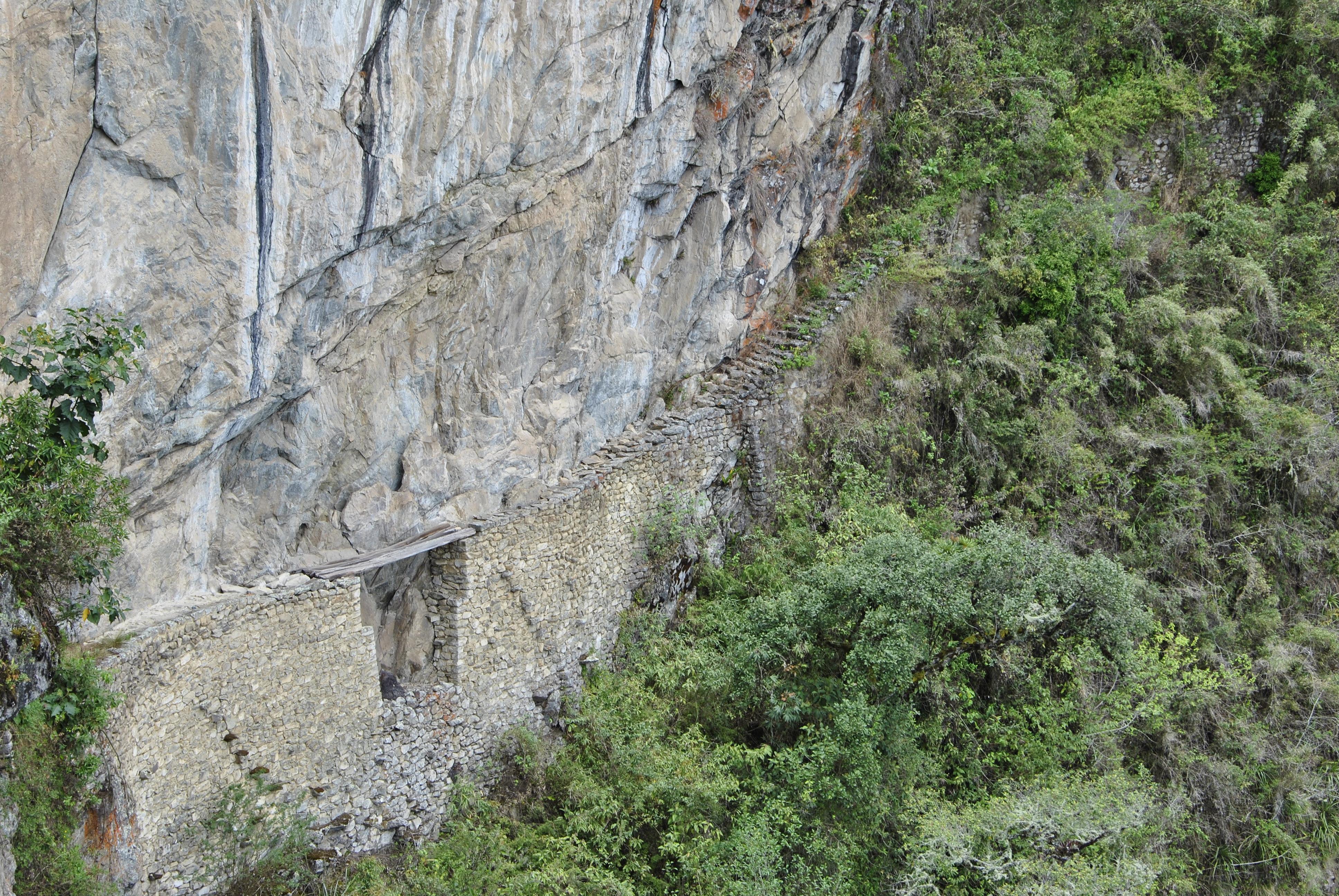 Inca Bridge, Machu Picchu, Pérou