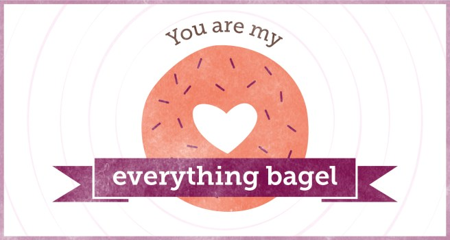 Free Printable Valentine Cards | Valentine Puns | You are my Everything Bagel via Sharis Berries | Mandy's Party Printables #valentinecard #classvalentines #valentinepun