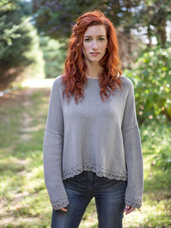 Coneflower sweater knitting pattern