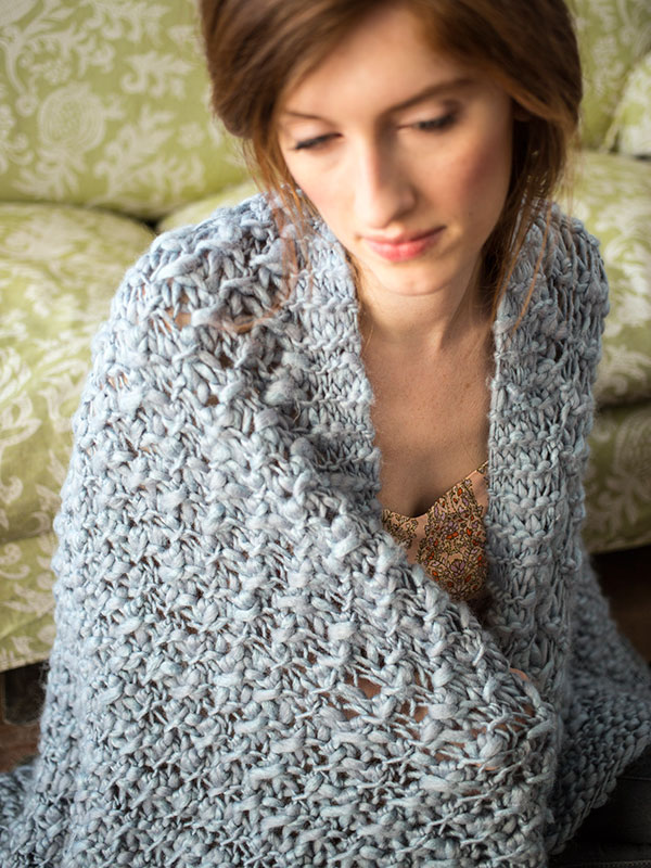 Tucana blanket knitting pattern in Berroco Gusto