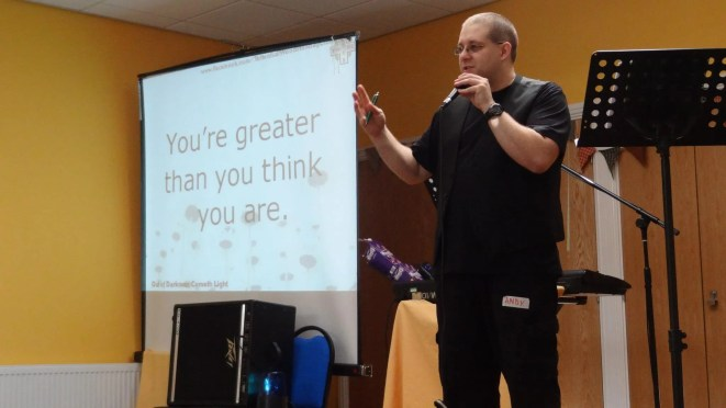 Andy B speaking
