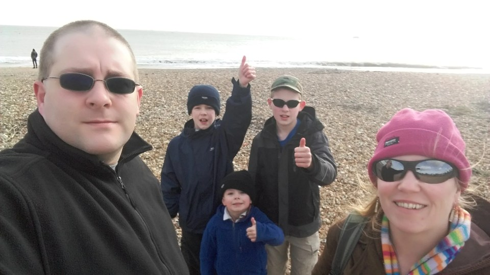 BerryBunch on a beach