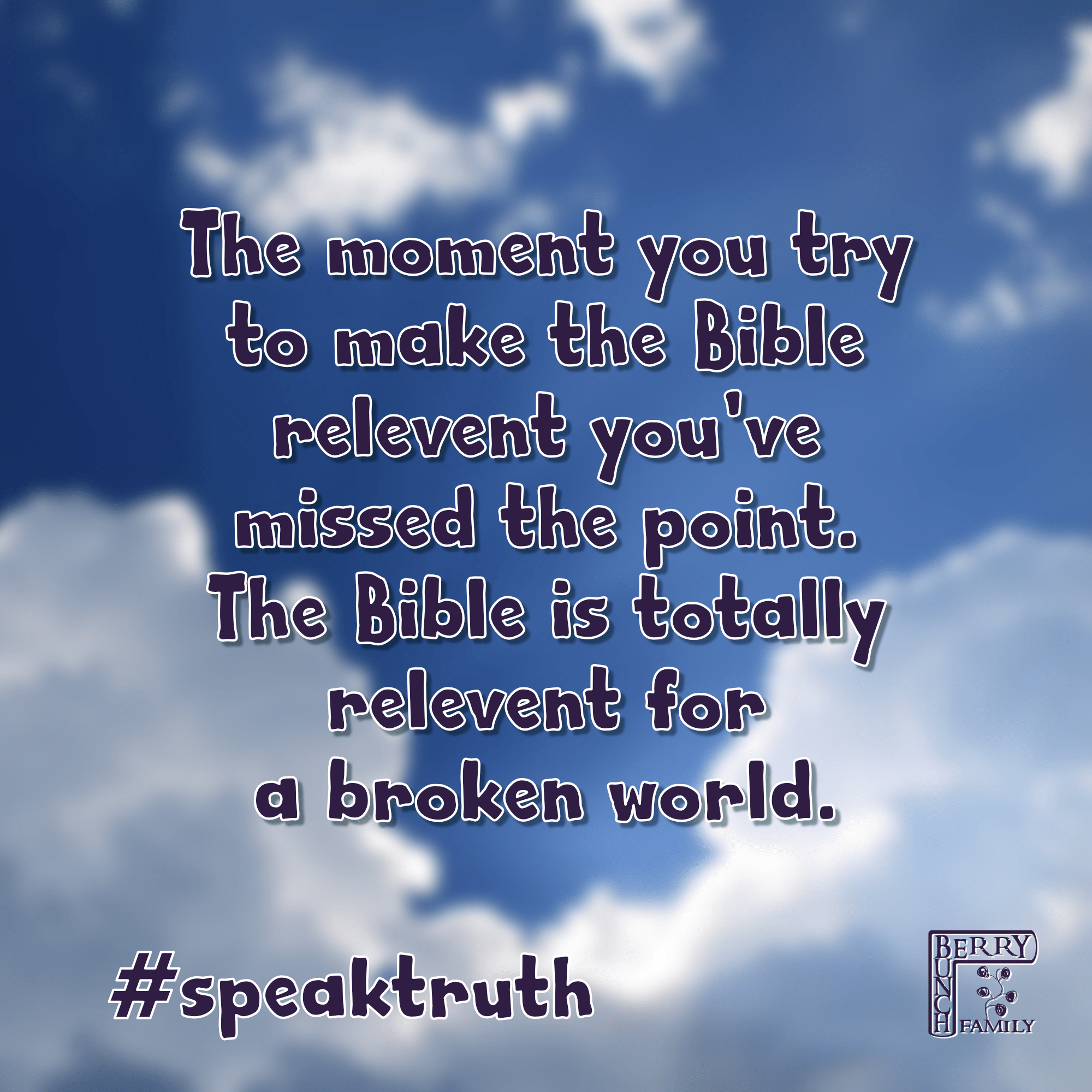 #SpeakTruth – The moment you try to…