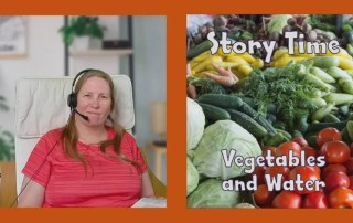 Story Time with Dave the Dog, Vegetable and Water