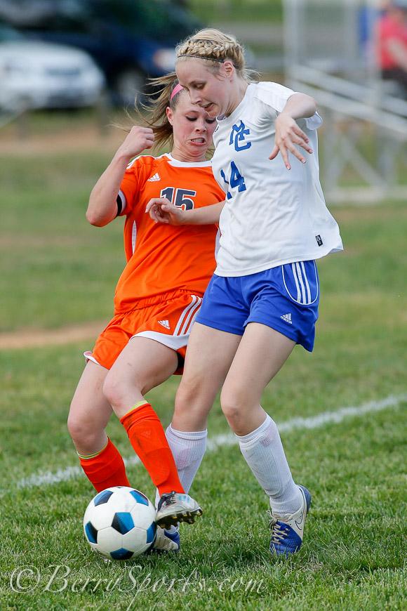 May 09, 2014.   MCHS Varsity Girls Soccer vs Clarke