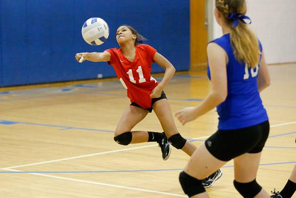 October 23, 2014.   MCHS JV Volleyball vs George Mason.  Madison wins 2-0.