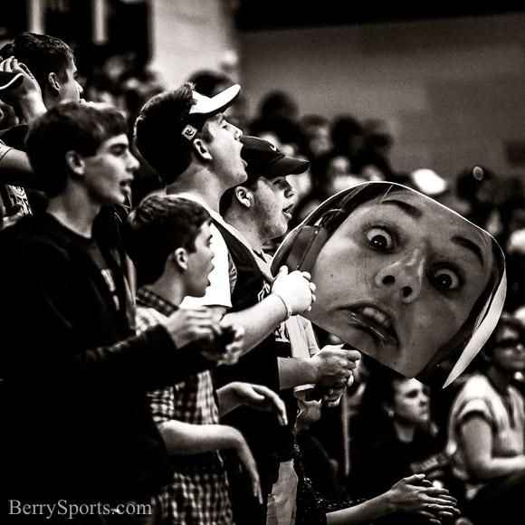 Rapp Student section tonight. November  05, 2016.     Rappahannock Volleyball vs Northumberland.  Conference 43 Tournament Final.  Rapp wins 3-0 (25-12, 25-16, 25-14).