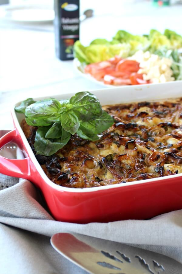 Baked Baby Potato & Caramelised Onion Omelette | www.berrysweetlife.com