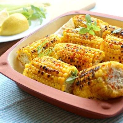 Charred Paprika Turmeric Corn Cobs