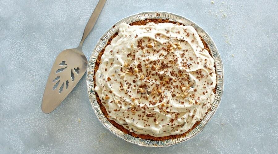 Chocolate Chip Peanut Butter Ice Cream Pie