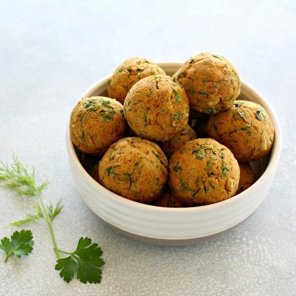 Oven Baked Healthy Vegan Falafel