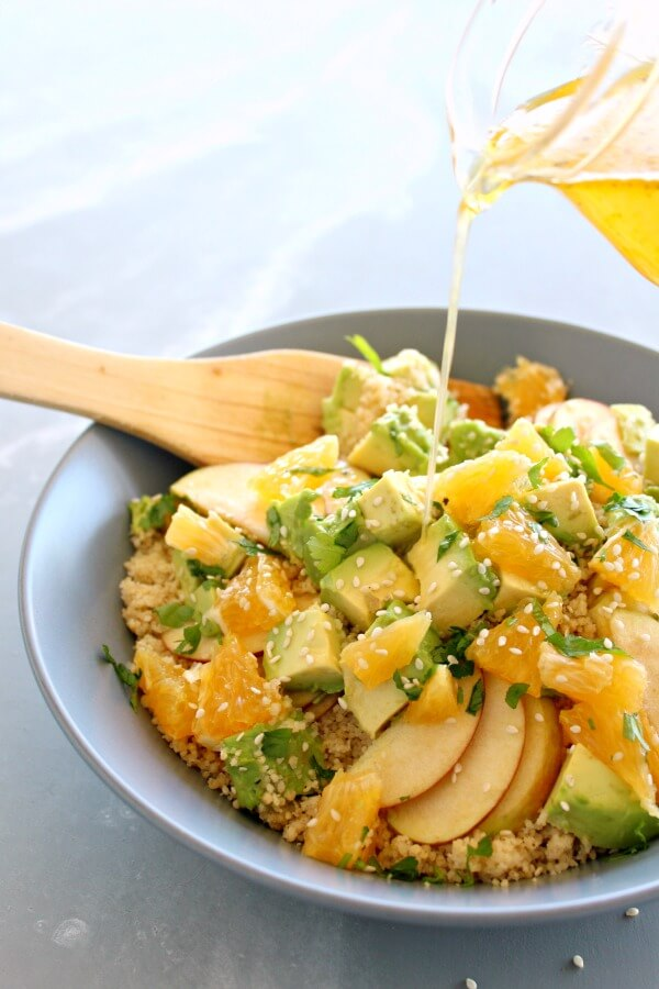 Zingy Avocado Citrus Couscous Salad. A 10 minute light meal or side dish that is fresh, flavourful, gorgeous to look at, and really nutritious! | berrysweetlife.com