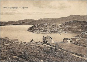 Gammelt postkort fra Bergsagel