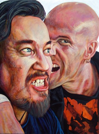 Simon Bisley and Nate Van Dyke Portrait