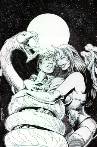 church of hell 3 variant cover, rich buckler pencils