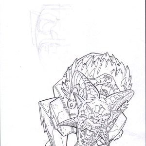 Andrei Bressan – Green Lantern: New Guardians demon design Comic Art