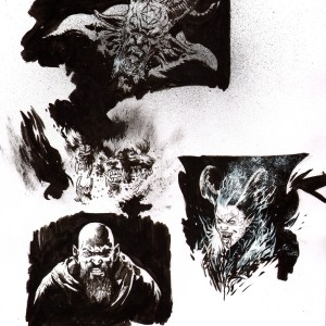 Andrei Bressan – Church of hell Demons Comic Art