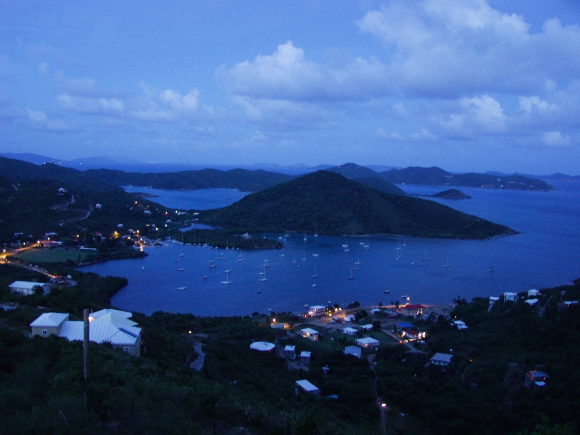 Coral Bay at twilight