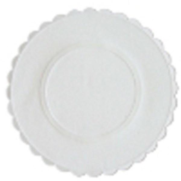 Berties White Embossed Paper Coasters   Berties Direct