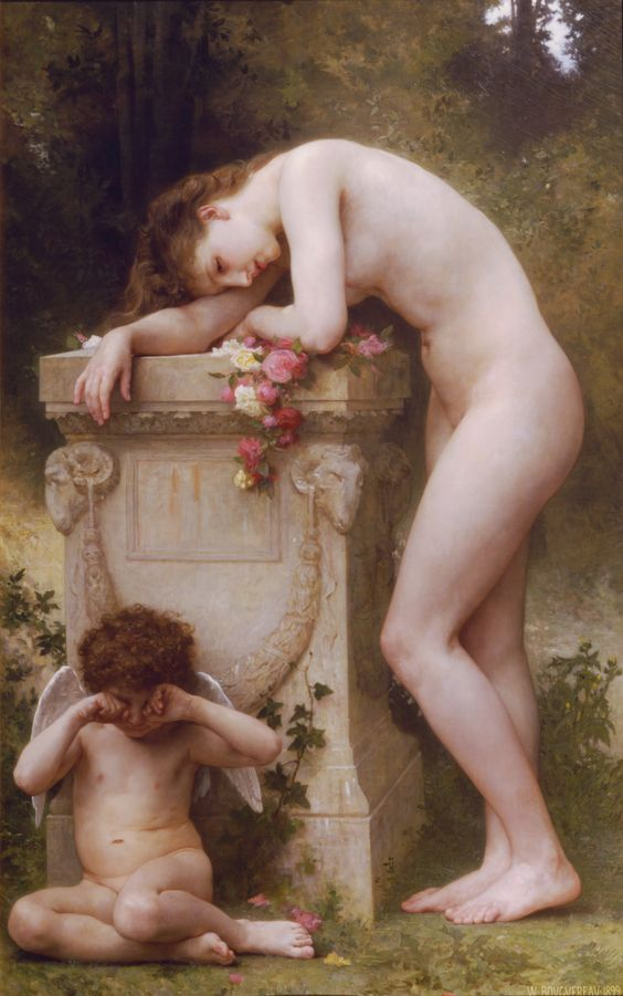William Adolphe Bouguereau, Elegia, 1899 Collezione Privata