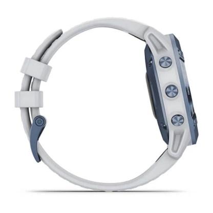 fēnix 6 - Pro Solar Edition Mineral blue con cinturino whitestone
